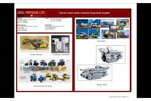 Các loại xe đầu kéo của Terberg, Renault, các máy kéo nông nghiệp New Holland, Máy nén khí Ingersoll Rand, Máy Phát Điện Perkins