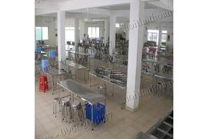 bàn ghế inox nhà ăn xí nghiệp,trường học