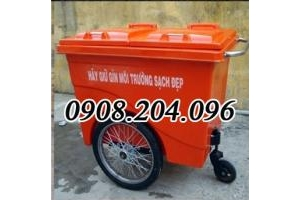 Thùng rác nhựa composite 660 lít giá rẻ bền call 0908204096 Ms Linh