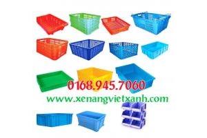 Thùng nhựa công nghiệp, sọt nhựa, khây phụ tùng, gia rẻ call 01689457060