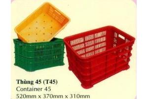 Thùng nhựa công nghiệp đan lưới - www.palletnhua.com.v n