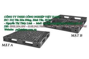 Pallet nhựa 1100x1100x125mm-đen  hàng thanh lý kho giá 290000đ