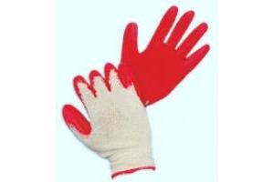 Găng tay len phủ cao su đỏ một mặt