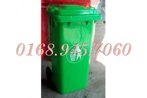 Thung rác công cộng  HDPE (120L-240L), Xe gom đẩy rác (660 lít ,1000 lít ) giá thấp