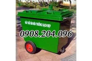 Thùng rác nhựa Composite 660 lít 3 bánh, 4 bánh đặc, hơi giá rẻ bất ngờ