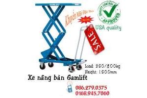 Xe nâng mặt bàn 350kg giá cục sốc nâng cao 1m3