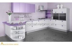 Tủ bếp nhựa picomat PC014 thiết kế mới