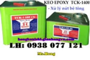 Keo epoxy TCK 1400, epoxy 1400 xử lý nứt bê tông