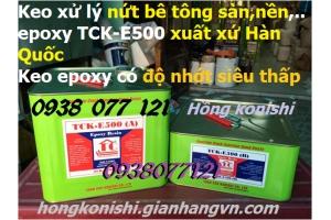 Keo epoxy resin E500, epoxy TCK E500 xử lý nứt bê tông tại TPHCM