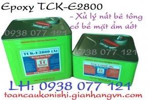 Keo epoxy TCK E2800 xử lý nứt bê tông bề mặt ẩm ướt