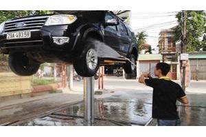 Bán cầu nâng một trụ thủy lực rửa xe ô tô Ấn Độ