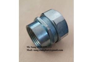 Đầu Nối ống ruột gà với ống thép ren luồn dây điện