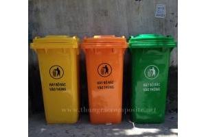 Thùng rác 240L - Phân phối thùng rác 240L nhựa hdpe