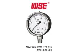 Đồng hồ đo áp suất có dầu Wise P258 – Wise Vietnam