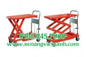 Bán xe nâng bàn, xe nâng mặt bàn nhập khẩu Mỹ, Đài Loan tải trọng 300kg đến 1000kg giá tốt nhất