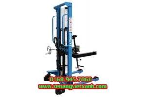 Thanh lý xe nâng quay đổ phuy tải trọng nâng 350kg nâng cao 1425mm
