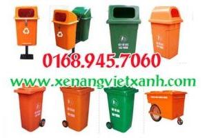 Cung cấp thùng rác nhựa 60l, 90l, 120l, 240l  giá siêu rẻ các loại