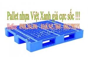 Pallet nhựa kê hàng tải trọng 1- 5 tấn, pallet PL481 màu đen giá rẻ cạnh tranh