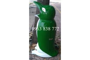 Thùng rác chim cánh cụt - Thùng rác gấu trúc - Thùng rác nhựa