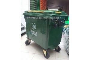 Thùng rác công cộng 660L - Xe đẩy rác 660L - Thùng rác 660L