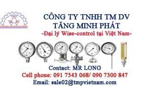 Đồng hồ áp suất Wise vỏ bằng Inox-Đại lý Wise-Control Vietnam-TMP Vietnam