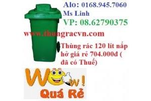 Thùng rác nhựa 120 lít nắp hở -640.000đ