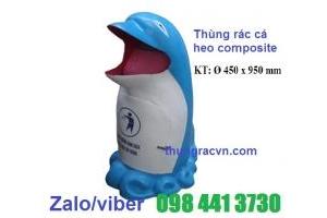 Thùng rác cá heo composite giá siêu rẻ