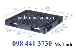 Pallet nhựa 1100x1100x125mm đen ( khuyến mãi sốc)