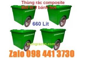 Thùng rác 660 lít Composite khuyến mãi