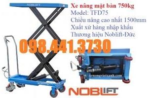 Xe nâng bàn 750kg Noblift -Đức - call 098 441 3730 Ms Linh