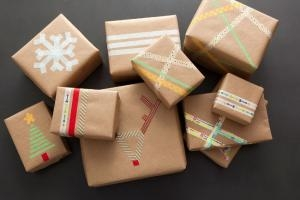Cung cấp sỉ băng keo văn phòng cuộn nhỏ gói quà