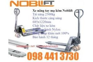 Xe nâng tay inox tải nâng 2500kg dùng trong thủy sản kho lạnh giá sốc call 01689457060