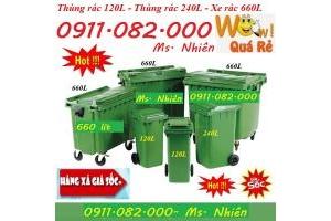 Thùng rác gia đình, thùng rác công cộng, thùng rác y tế, thùng rác 120 lít 240 lít giá rẻ