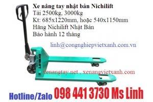 Xe nâng tay nhật bản Nichilif 2500kg