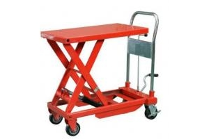 Xe nâng mặt bàn 750kg nâng 750kg cao 1m giá rẻ