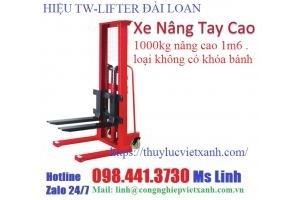 Xe nâng tay cao 1000kg nâng cao 1m6 loại không có khóa – hiệu tw-lifter Đài Loan