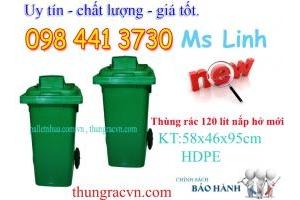 Thùng rác nhựa 120 lít nắp hở mới công nghiệp đủ loại