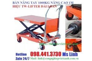 Bàn nâng điện 2 tấn cao 1m tw-lifter  Model: Hw2001